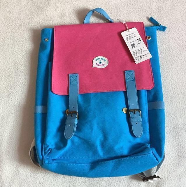 NEW Korea Canvas Backpack