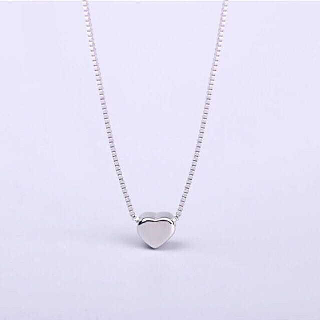 New Sterling Silver Small Heart Necklace