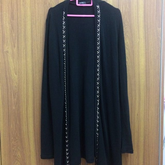Nichi Black Chain Cardigan