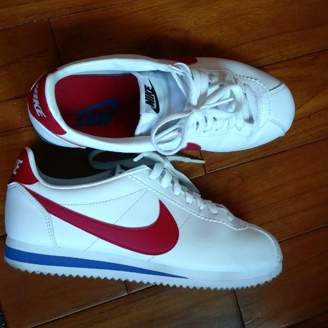 (免運)Nike阿甘紅白藍全皮革配色