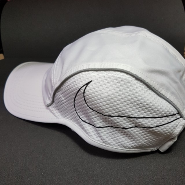 Nike Aw84 Dri Fit Aerobill Running Cap Baseball White Sports 7e6c2685893f