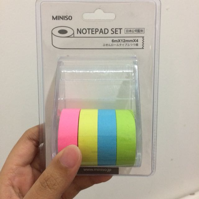 Notepad Set by Miniso bisa barter