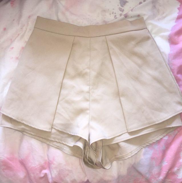 Nude High Waisted Shorts - Sz 10