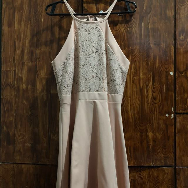 Nude/Beige Lace Dress