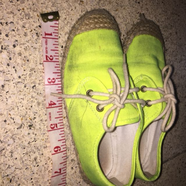 Old Navy Neon Green Espadrille shoes