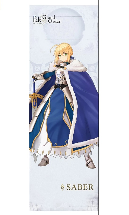 [PO] Fate Grand Order (GO) Cloth Wall Scroll Wallscroll Tapestry Long Posters (Saber Lily, Jeanne d'Arc, Scáthach, Scathach, Ishtar, Tamamo no Mae, Mysterious Heroine X)