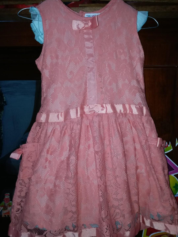 Pretty orange lace dress