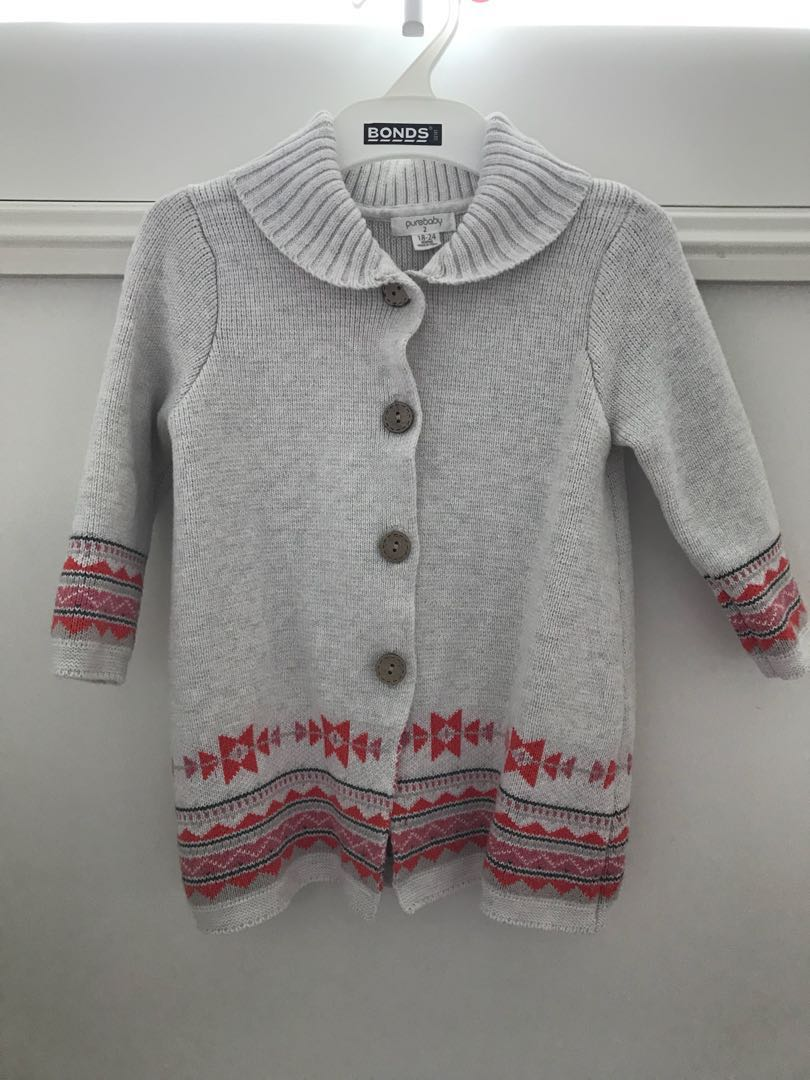 Clothing, Shoes & Accessories Shop For Cheap Purebaby Girls Cardigan Size 2
