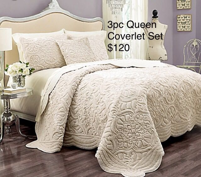 rand New 3PC Full/Queen Coverlet Set