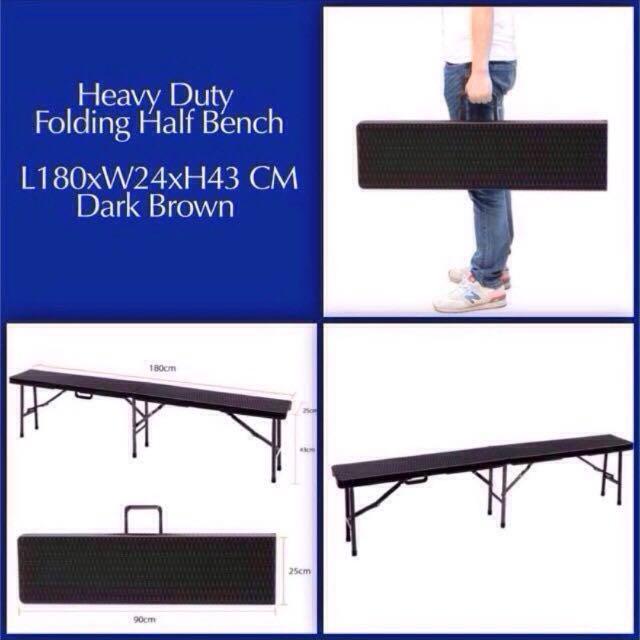 REPRICED Heavy Duty Half Folding Bench