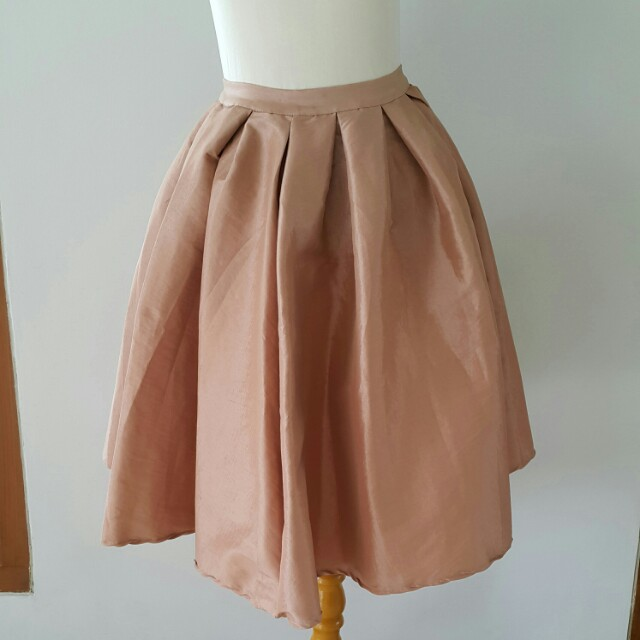 Brown midi flare skirt