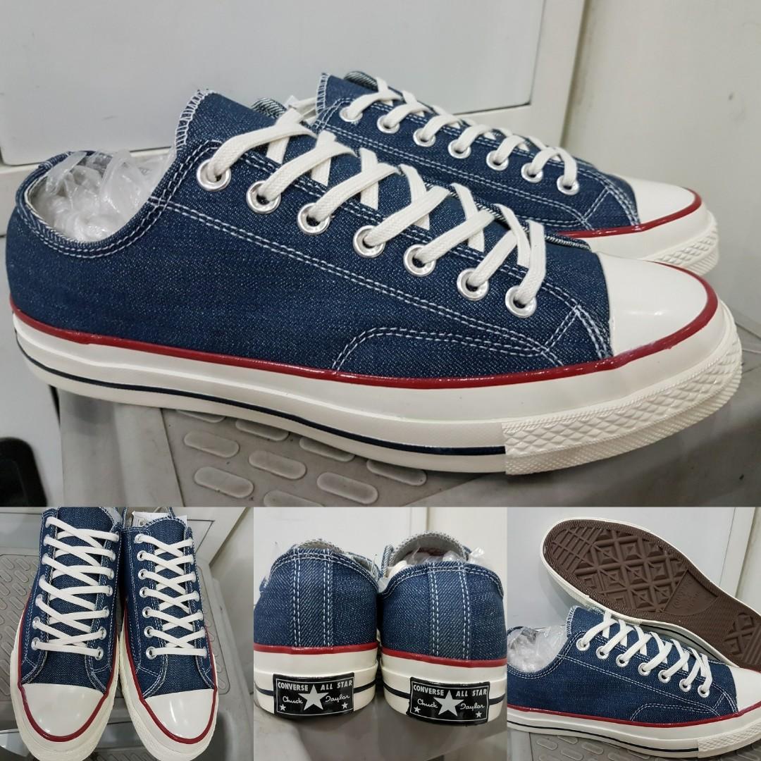 fb9ac0e7ae3e Sepatu Kets Converse Allstar Chucktaylor 70s Denim Low Navyblue Biru ...