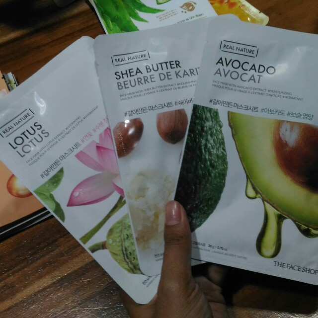 Sheet mask real nature the face shop