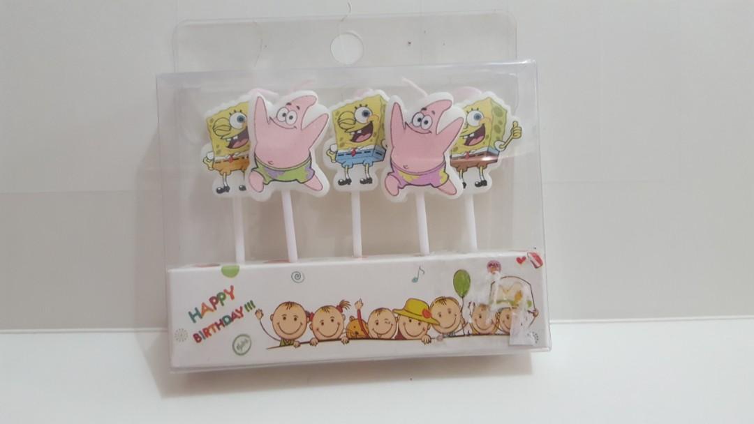 Spongebob Birthday candles