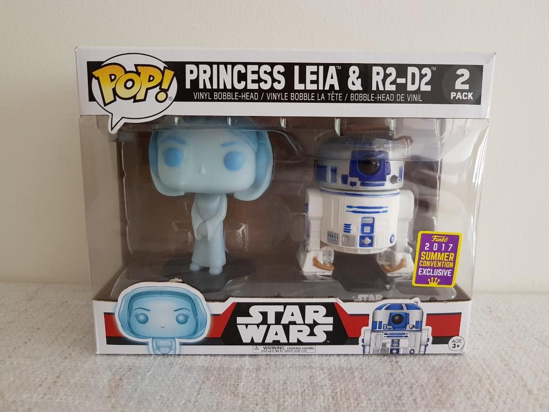 Star Wars: Leia & R2D2 Pop Vinyls