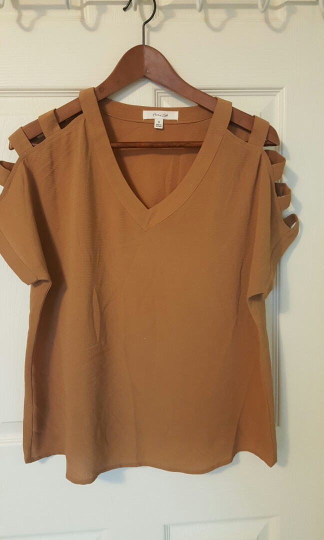 Tan Blouse