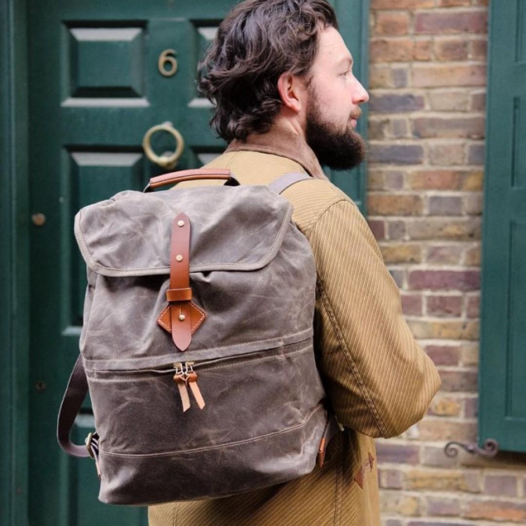 Tanner goods Voyager Daypack 上蠟油布 真皮 皮革 後背包