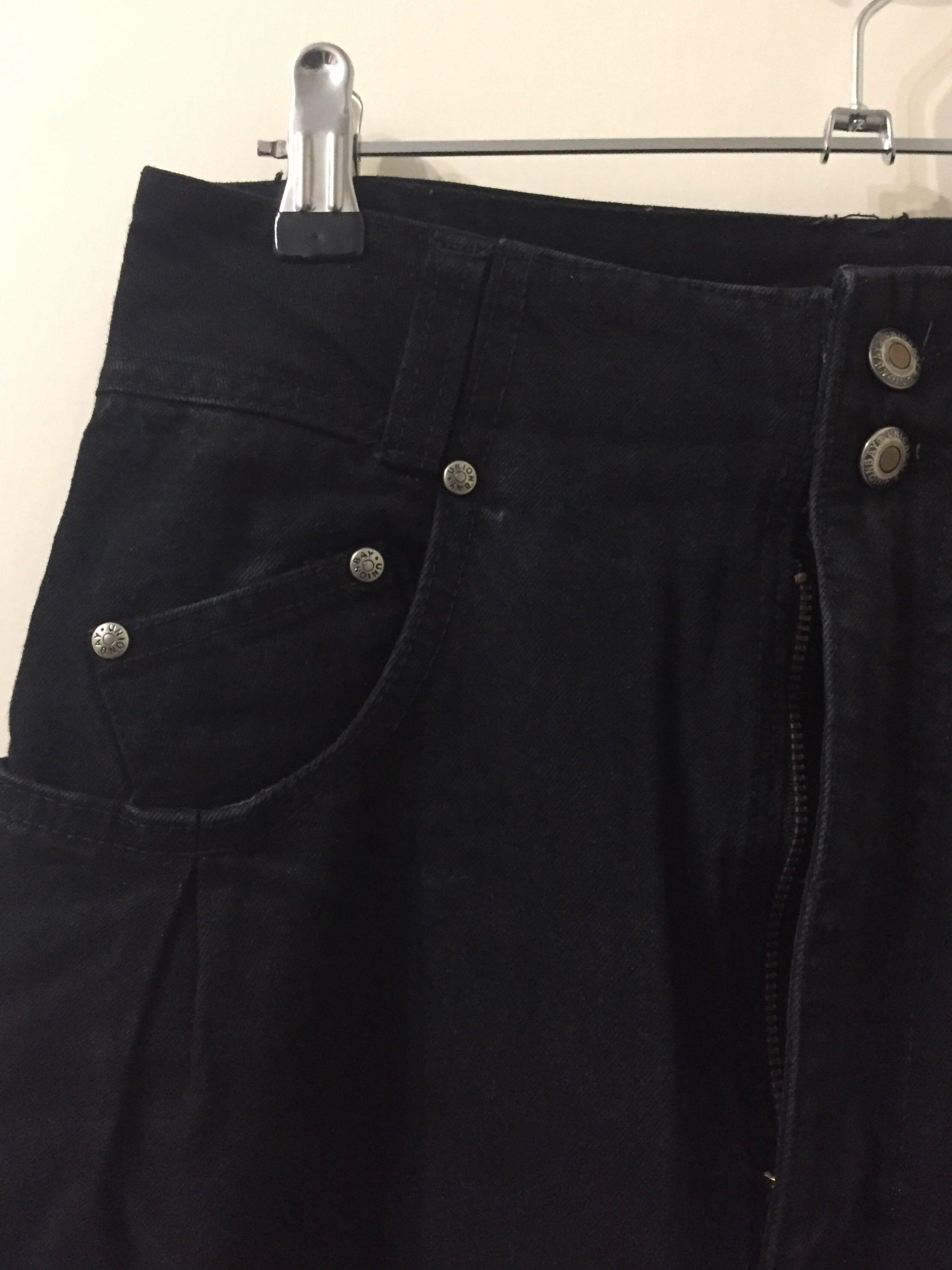 Unionbay Denim & Co Super High Waisted Vintage Black Jeans