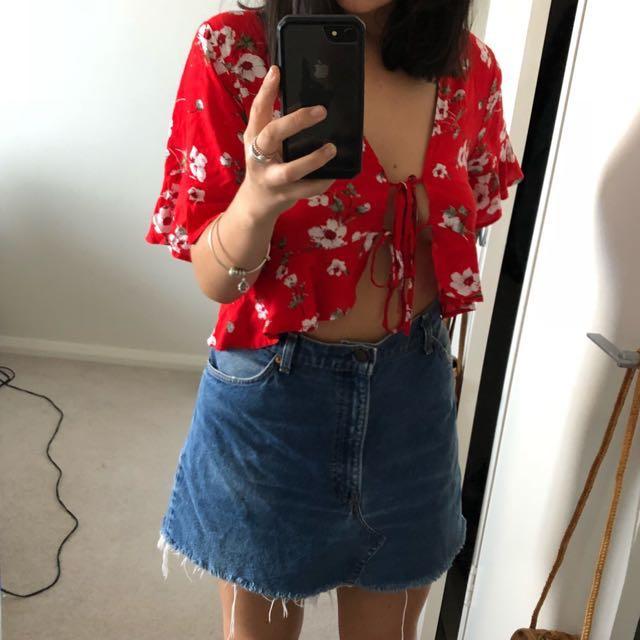 Vintage Levi denim skirt