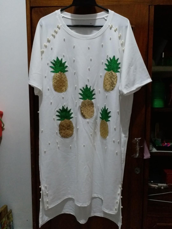 White pineapple dress