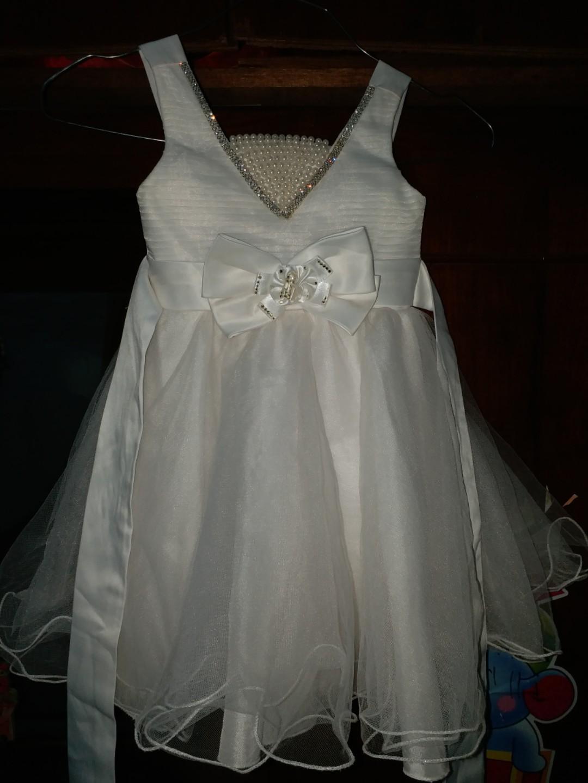 White princess party dress