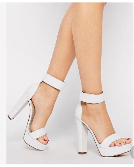 Windsor Smith White Strap Heels Sz 8