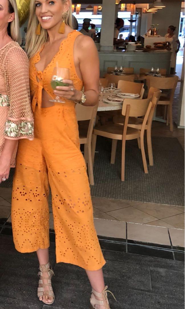 Women's orange pantsuit