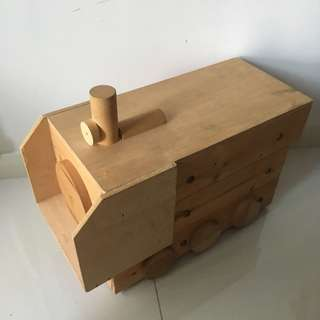 Wooden Train Box with wheels