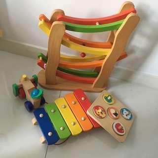Promo! 4 prices of wooden Montessori toys