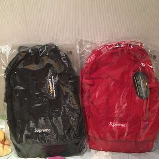 Supreme Backpack 背包 背囊 Ss18 Black Red 黑色 紅色