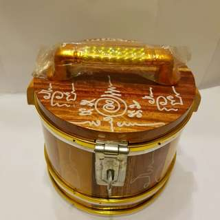 Promo @$58.88 only for Wealth Bucket(M) Medium size comes with gold foils & LP Sompong personally hand written Yant around the whole bucket including inner part.