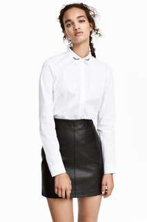 H&M Leather Short Skirt