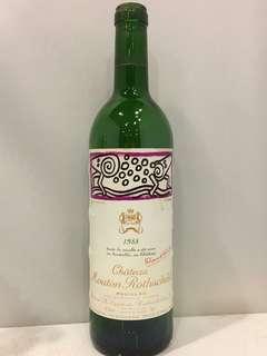 1988 Mouton Rothschild empty bottle