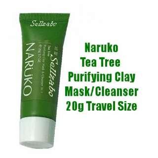 茶树 Tea Tree Purifying Clay Cleanser Cum Mask Facial Wash Sellzabo Taiwan Naruko Travel Size 20g Pimples Oil Skin Face