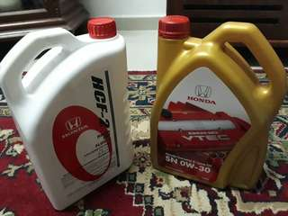 Engine oil fully synthetic + gear oil Honda