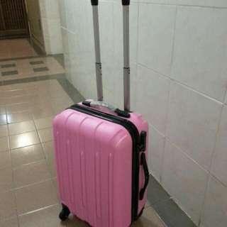 100%new 萬向輪 密碼鎖 粉紅色20吋 手拉喼 Luggage 行李箱 旅行篋 拉捍箱 Trunk