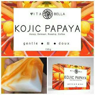 NEW VITA BELLA KOJIC PAPAYA SOAP.