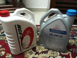 Engine Oil + Gear Oil for Honda