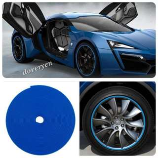 Car Van Motorcycle Scooter Rim Protector Rubber Tube  ★Blue Color 8m Long  ★3M Adhesive Tape   ★8m In Length     15 - 19 Inch Wheel      8m Enough For 5 Wheels  ★20 - 23 Inch Wheel     8m Enough For 4 Wheels  ★Can Use As Decor Strip    In Stock