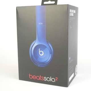 BeatsAudio Solo2 blue 有線耳機 99%新