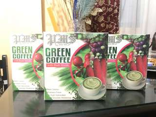 Green coffee with Buah Merah