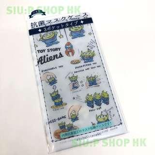 ⭕️8/3 新貨上架⭕️ 日本直送 Disney & Pixar Collection Toy story Little Green Man 3 Pockets Anti-Bacterial Mask Case ディズニー 3ポケット 抗菌マスクケース リトルグリーメン 3袋口 日本製 抗菌 口罩套【三眼仔款】