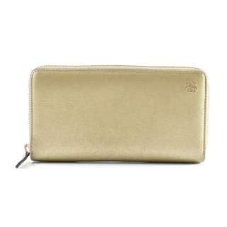 AUTHENTIC GUCCI GOLD LEATHER LONG WALLET