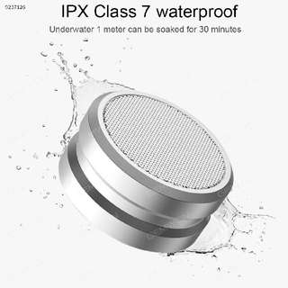 Aluminum Alloy Waterproof Wireless Mini Bluetooth Speaker With FM Radio. TWS (True Wireless Stereo)