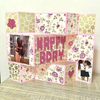customized 3D standing happy birthday card