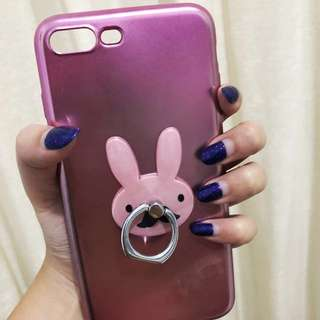 Purple metallic case with Iring for Iphone 7+ , Iphone 8+