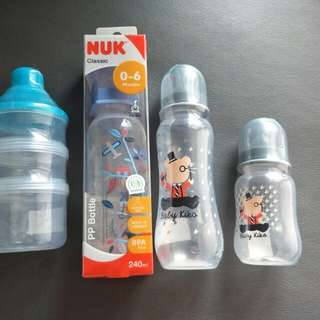 Baby milk bottle + baby stuff