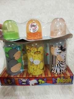 New Milk Bottles 3pcs Set Noah animals
