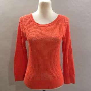 forever 21 orange sweater