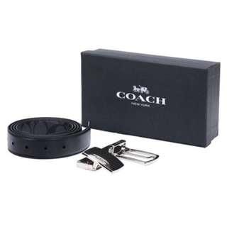 🈹💯% Coach 男仕皮帶 (附上兩個款式)